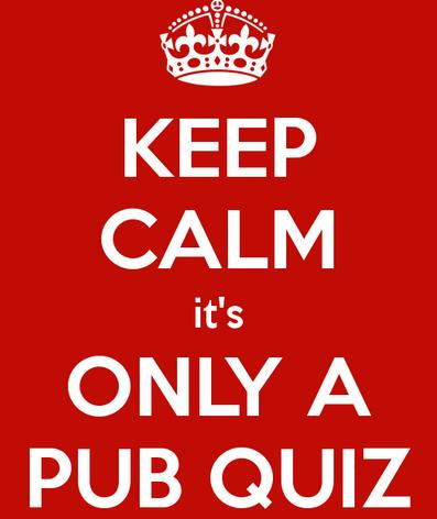 Who's up for the pub quiz?